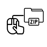 Icono zip