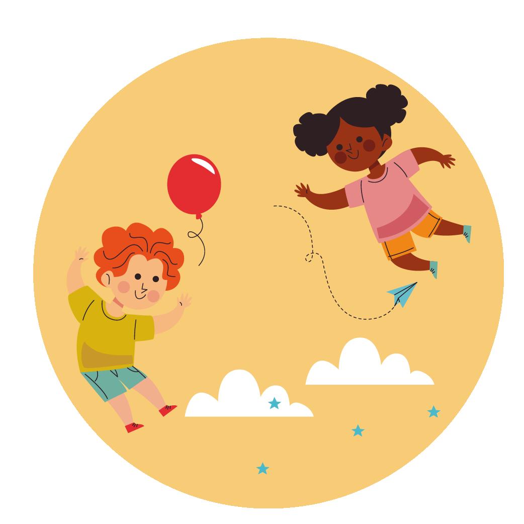 Niños de primera infancia jugando