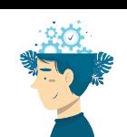 Icono de cabeza con ideas
