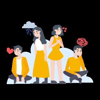 Ilustración de identificación emocional