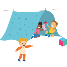 acampando
