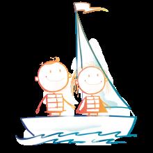 Niños en barco