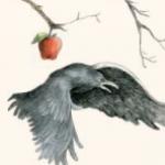 Manzana y pájaro